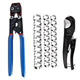 Zhushan Pex Clamp Cinch Tool Set, Ratchet PEX Cinch Tool from 3/8-inch to 1-inch...