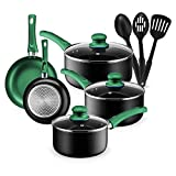 Kitchen Cookware Set, 11 Piece Pots and Pans Set for Cooking Nonstick, Dishwasher Safe Cooking...