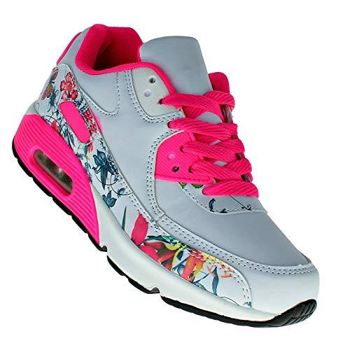 Bootsland 925 Neon Luftpolster Turnschuhe Sneaker Sportschuhe Damen, Schuhgröße:36