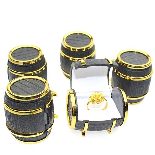 AchidistviQ Holder custodia retro birra barile Jewelry Box braccialetto collana Storage organizer Holder case, colore: Multi, cod. JMED5AD399WBO2UUP