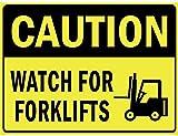Orologio personalizzato per carrelli elevatori Poster da parete in latta Segnale di avvertimento Retro piastra in ferro in metallo Pittura Art Decor per Home Pub Office 30x40cm