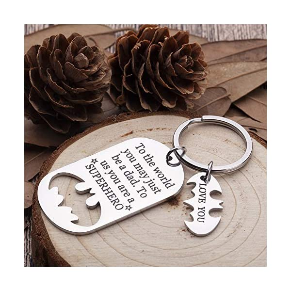 Fathers Day Gifts Dad Birthday Keychain For Daddy Step Dad To Be Husband From Daughter Son Wife Kids I Love You Key Ring Father Of The Bride Step Father Figure Wedding Anniversary Men Him
