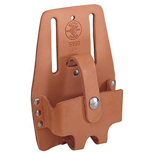 Klein Tools 5196 Tape Measure Holder, Leather, Large , Brown