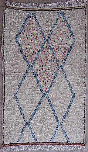 245 x 150 cm, AZ32169 AZILAL Rug Ourika, Beni Bär Vintage Berber Rug Morocco, Wool Karpet, Boucherouit