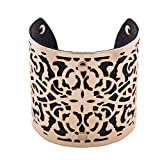 Mode ɉlégante Créatif Creux Chaîne en Cuir Coloré Large Bracelet Manchette...