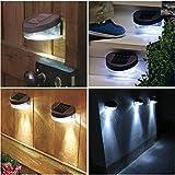 Garden Mile helle LED Außen Solar Garten Beleuchtung schwarz Deck Step Treppe Lichter sicherer und mehr langlebig Zaun Deck Dock Gehweg Landschaftsbau Ökolicht großartig für Garten Garten Terrasse