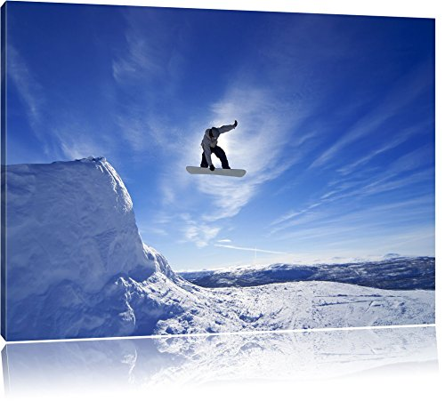 Bild auf Leinwand Wandkunst Snowboard Springen Extremsport Kunstdruck Leinwand Poster Moderne Wohnkultur Kunstwerk 70x100cm (27,6x39,4 Zoll) Kein Rahmen