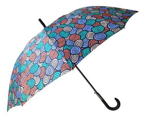 Goods4good Paraguas Mandala Gran Tamaño 65cm Familiar Mujer/Hombre Multicolores Largo Automático 12 Varillas Anti Viento