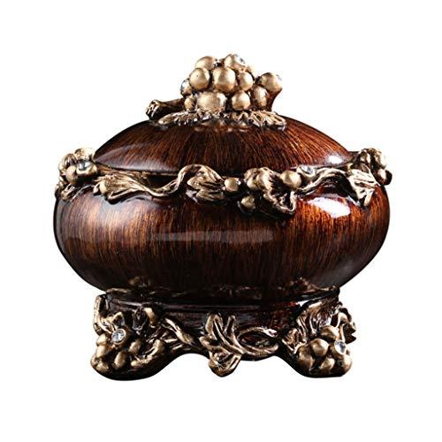 didi Cenicero creativo estilo europeo cubierto cenicero americano retro de gama alta decoraciones sala de estar oficina mesa de café decoración hombres regalos cenicero regalo