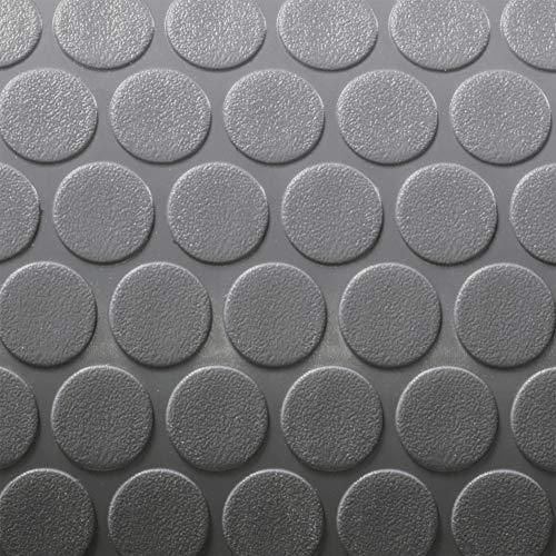 RecPro Trailer Coin Flooring   Gray   8' 6 Wide   Nickel Pattern RV Flooring   Gym Flooring   Garage Flooring (30ft)