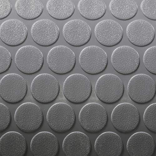 RecPro Trailer Coin Flooring | Gray | 8' 6' Wide | Nickel Pattern RV Flooring | Gym Flooring | Garage Flooring (10ft)