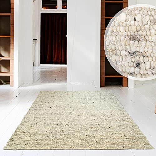 Hand-Web-Teppich | Reine Schur-Wolle im Skandinavischen Design - 160 x 230 cm