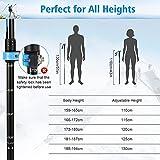 Zoom IMG-1 fostoy bastoncini trekking 2pcs bastoni