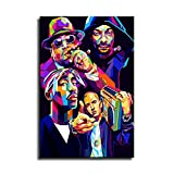 Hip-Hop-Rap Eminem Biggie Leinwand-Kunst-Poster und