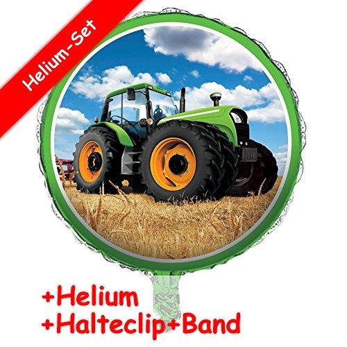 Folieballonset * Tractor time * + Helium vullen + Clip + Band * voor kinderverjaardag of themafeest // folies ballon helium decoratie ballongas tractor