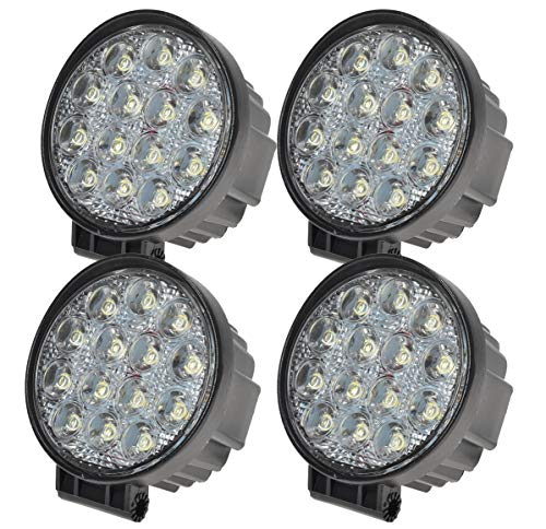 MIRACLE 4x42W Rond lampe phares longue portée LED 12v 24v Quad tracteur 4x4 feux Offroad