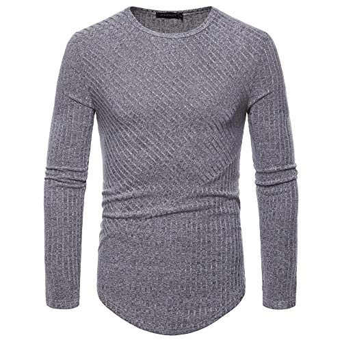 ZYUD Herren Fitness Langarm Sweatshirt Gym Slim Fit Herren Rundhals Longsleeve Basic...