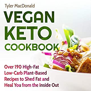Vegan Keto Cookbook audiobook cover art