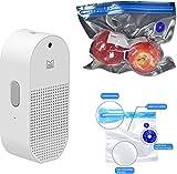 Flextail Gear 9 Flex & Food - Bolsas de vacío reutilizables para alimentos y ATMOS Bomba de aire Compresor Bomba de vacío – Adecuado para inflar pelotas y envasar al vacío bolsas de vacío Blanco