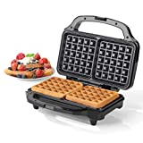 Salter EK2249 Deep Fill Waffle Maker with XL Non-Stick Cooking Plates, 900 W