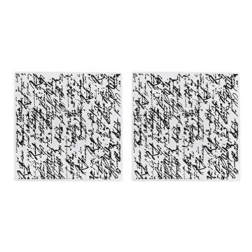 ROSEBEAR Scrapbooking-Vorlage Prägeordner Konkav-Konvex Prägeplatte für Handwerkliche Fotoalbum Dekoration. (2 Stück)