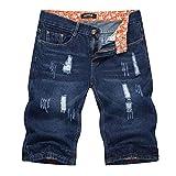Bigbarry Exquisita Pantalones Rectos Quinta Ejercicio (Color : Dark Blue, Size : XX-Large)