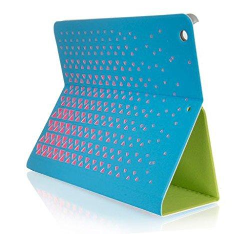 Funda con tapa y protector de tapa azul - Rosa para Apple ipad Air