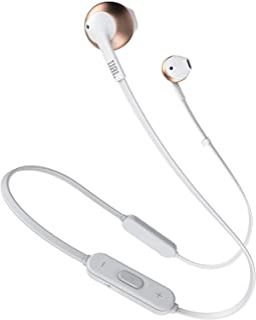 Fone de ouvido Bluetooth, Gold rosé JBL, JBLT205BTRGD