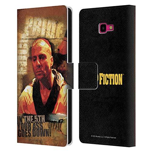 Head Case Designs Licenza Ufficiale Pulp Fiction Butch Arte Cover in Pelle a Portafoglio Compatibile con Samsung Galaxy J4+ / Plus