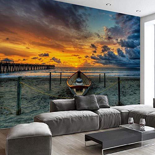 Papel pintado mural imagen 3D Papel tapiz floral azul europeo para paredes...