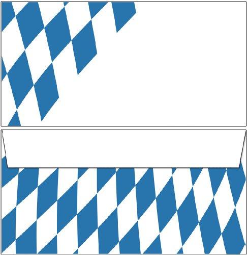 100 Kuverts Bayern Raute DIN lang ohne Fenster 6153