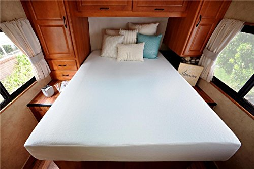 Zinus Deluxe Memory Foam 8 Inch RV / Camper / Trailer / Truck Mattress, Short Queen