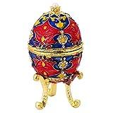 IPOTCH Regali della Cassa del Contenitore di Monili Reali Russi Dell'uovo di Pasqua di Cristallo degli Uomini delle Donne