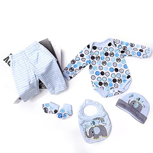 """ZIYIUI Vestiti per Bambole per New Born Baby Doll, Stili Diversi Per Bambole Onesies per 20-22 """" Bambolotti (50-55 cm)"""
