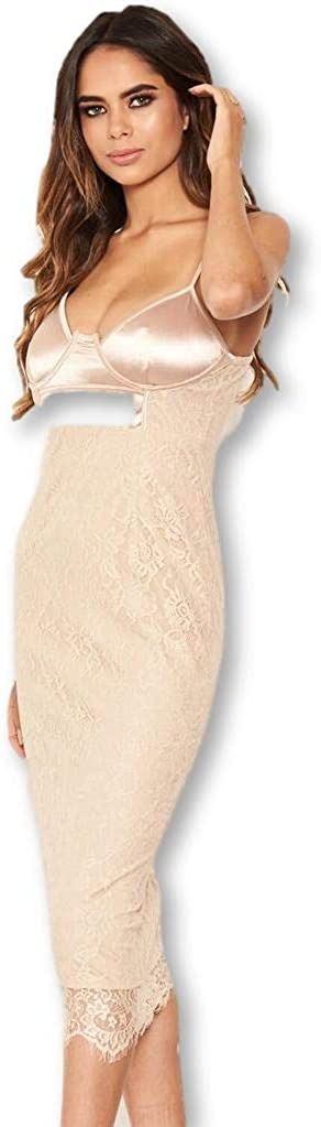 AX Paris Women's Lace Bodycon Midi Dress