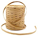 656 Feet Natural Raffia Paper Ribbon Twine Strings,Raffia Twine Packing Paper Craft Ribbon for Florist Bouquets Decoration