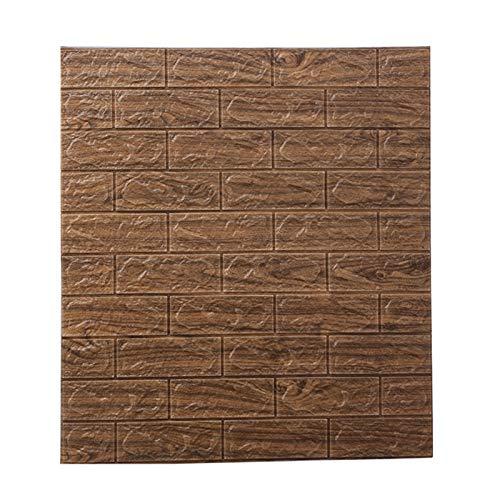 Piedra de Ladrillo Paneles de Pared Autoadhesivos Piso 3D Efecto Bloques Piedra Aspecto removible Papel de Pared Vintage hogar para Dormitorio Cocina Sala de Estar baño decoración (Size : 50 Pack)