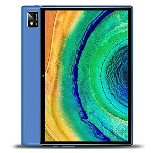 Tablet 10 Pulgadas Octa Core 6GB de RAM 128GB/512GB de ROM Android 10.0 Tablet PC Batería 7000mAh 4G LTE Tablet Baratas y Buenas Cámara 5MP WiFi,Bluetooth,GPS,Type-C,Google Play,Netflix,TF-SD(Azul)