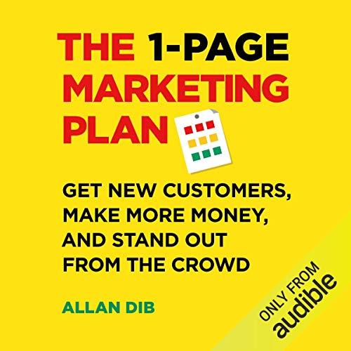 The 1-Page Marketing Plan audiobook cover art