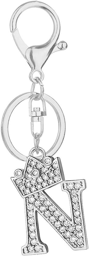 Initial Letter Crown Keychain Alloy 26 Key Alphabet Rhinestones Jacksonville Mall Columbus Mall