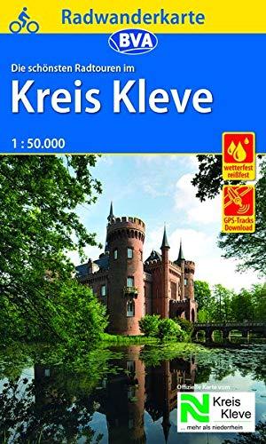 Radwanderkarte BVA Radwandern im Kreis Kleve 1:50.000, reiß- und wetterfest, GPS-Tracks Download (Radwanderkarte 1:50.000)