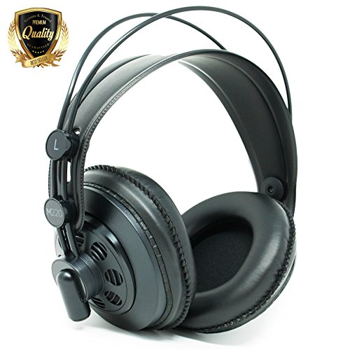 AKG M220 Pro Stylist Professionelle große Membran DJ Semi-Open High Definition Over-Ear-Kopfhörer – Schwarz
