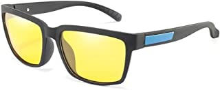 ZMP PC Frame Polarized Anti-UV Sunglasses Cycling Ultra Light Colorful Unisex Sunglasses (Color : Blue Yellow)