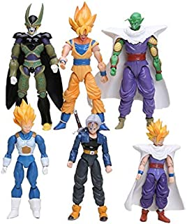 Lemongrass. Z Joint Movable Vegeta Piccolo Son Son Trunks Vegetto Cell PVC Action Figure Toys 6Pcs/Set 13-15Cm Baby Boy Must Haves Toddler Favourite Superhero Decorations LOL Unboxed