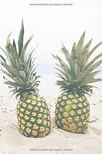 Ananas Notizbuch: mit Ananas Bild als Motiv - 120 Seiten a5 liniert   perfekt als Geschenk für Feinschmecker & Obstliebhaber