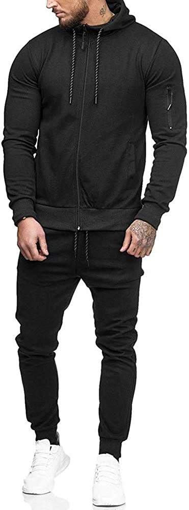 Mens Autumn Winter Kansas City Mall Colorblock Hoodie Spo National products Jacket Pants Sweatshirt