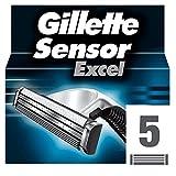 Gillette Sensor Excel - Recambio De Maquinilla De Afeitar Para Hombre - 5Recambios