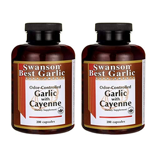 Swanson Garlic with Cayenne 200 Capsules (2 Pack)
