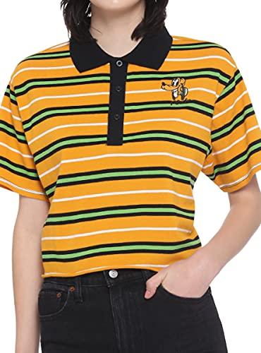 Disney Pluto Stripe Girls Crop Polo Shirt