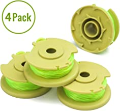 X Home Weed Eater Replacement Spools Compatible with Ryobi One Plus+ 18V 24V 40V AC80RL3 String Trimmer, 11ft 0.080 inch, Cordless Trimmers Twist Single Line (4 Spools)